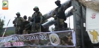 Hamas paraderte rundt i Gazas gater med våpen og trusler mot Israel. (Foto: Skjermdump, Yedioth Aharonoth)