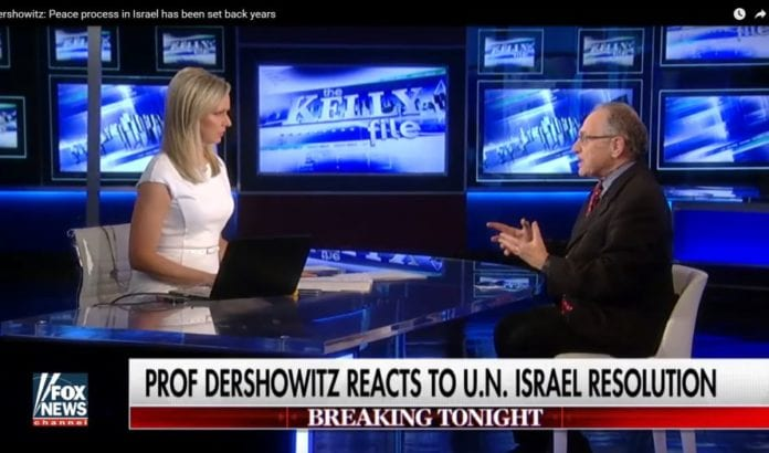 Programleder Sandra Smith intervjuer Alan Dershowitz (Foto: Fox News/Youtube)