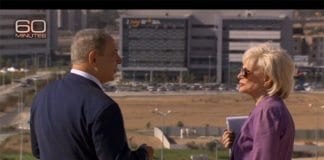 Benjamin Netanyahu og Lesley Stahl i Beersheba (Foto: Skjermdump fra video/CBS)
