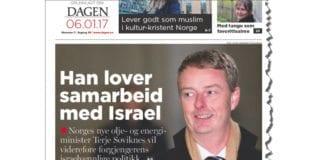 Faksmile fra avisen Dagen 6. januar 2017.