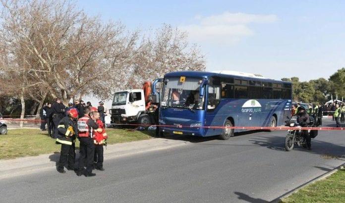 Fire ble drept og 17 skadet i søndagens terrorangrep. (Foto: Det israelske politiet)
