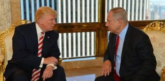 Trump og Netanyahu møtes for første gang som statslederen 15. februar. Her fra et møte da Trump var presidentkandidat i fjor. (Foto: Kobi Gideon)