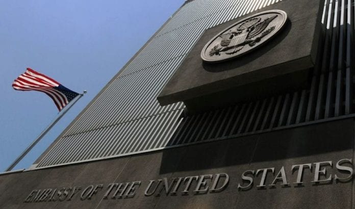 USAs ambassade til Israel er i dag i Tel Aviv. (Foto: US Embassy in Israel)