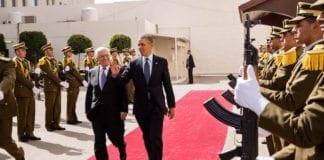 Mahmoud Abbas og Barack Obama møttes i Ramallah i mars 2013. (Foto: Pete Souza/Det hvite hus)