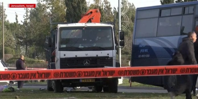 Lastebilen som ble brukt i terrorangrepet.