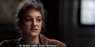 Louise Kahn føler seg tryggere i Israel enn i Oslo og europeiske byer (Skjermdump fra Youtube/TV2).