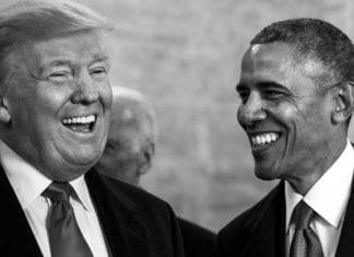Donald Trump og Barack Obama 20. januar 2017. (Foto: Marianique Santos, US Air Force)