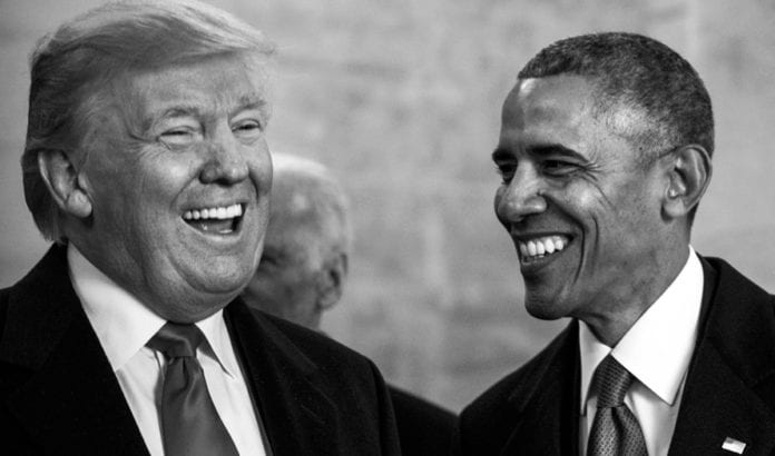 Donald Trump og Barack Obama 20. januar 2017. (Foto: Marianique Santos, US Air Force)