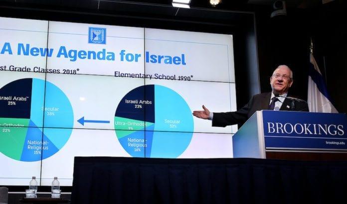 President Reuven Rivlin støtter en annektering av Vestbredden, hvis det innebærer at alle som bor der blir israelske statsborgere. (Foto: Sharon Farmer)