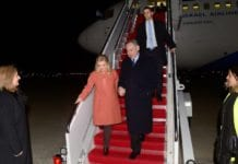 "Benjamin og Sara Netanyahu ankom USA natt til tirsdag. Onsdag skal ""Bibi"" møte Donald Trump. (Foto: Avi Ohayon/Flickr)"