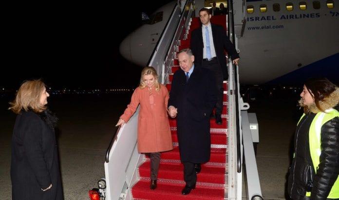 Benjamin og Sara Netanyahu ankom USA natt til tirsdag. Onsdag skal