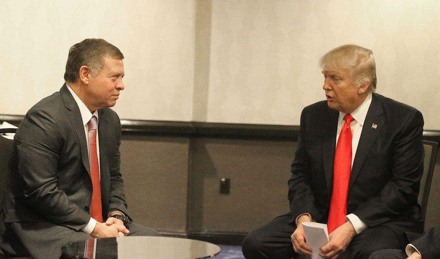 Kong Abdullah av Jordan møtte Donald Trump torsdag. (Foto: Royal Hashemite Court RHC