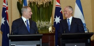 Benjamin Netanyahu møtte Australias statsminister Malcolm Turnbull. (Foto: Haim Zach/Flickr)
