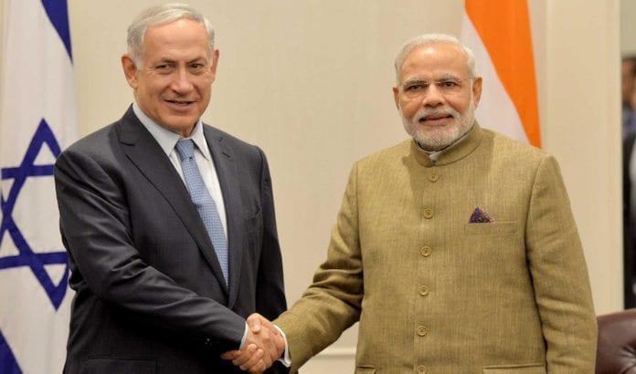 Benjamin Netanyahu og Narendra Modi under et møte i 2014. (Foto: Avi Ohayon/Flickr)