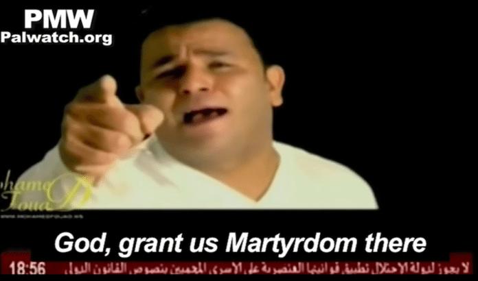 I en ny musikkvideo promoterer Fatah selvmordsbombing for Al-Aqsa-moskeen. (Foto: Skjermdump YouTube)
