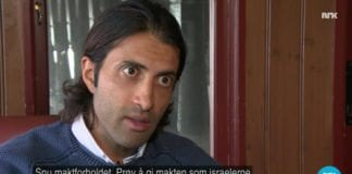 Mosab Hassan Yousef på NRK Dagsrevyen 5. mars 2017. (Skjermdump fra NRK)