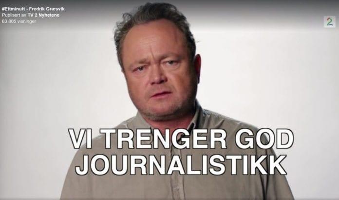 Skjermdump fra TV2s Facebook-side 6. mars 2017.