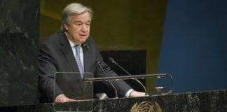 FNs generalsekretær Antonio Guterres vil ikke lenger være tilknyttet ungdomssenteret. (Foto: FN)