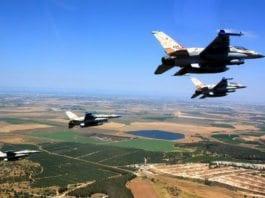 Fire israelske jagerfly skal ha deltatt i en bombeaksjon i Syria. (Illustrasjonsfoto: IDF)