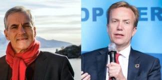 Jonas Gahr Støre var Arbeiderpartiets utenriksminister fra 2005 til 2012. Børge Brende har vært utenriksminister for Høyre fra høsten 2013. (Foto: Arbeiderpartiet og Clarissa Villondo, Verdensbanken, flickr)