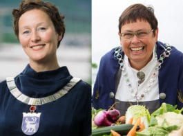 Ordfører i Tromsø Kristin Røymo (Ap) og ordfører i Trondheim Rita Ottervik (Ap). (Foto: Tromsø og Trondheim kommune)