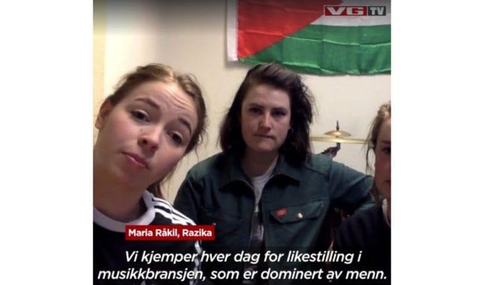 Medlemmer av bandet Razika snakker til VGTV. (Skjermdump VGTV)