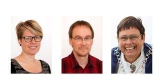 Varaordfører Hilde Okopu fra Miljøpartiet De Grønne, gruppeleder Ottar Michelsen fra SV og ordfører Rita Ottervik fra Arbeiderpartiet leder partier som stemte for Trondheims boikott av israelske bosetninger. En ny lov vil kunne hindre dem adgang til Israel. (Foto: Trondheim kommune)