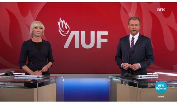 Skjermdump fra NRK Dagsrevyen 16. april 2017.