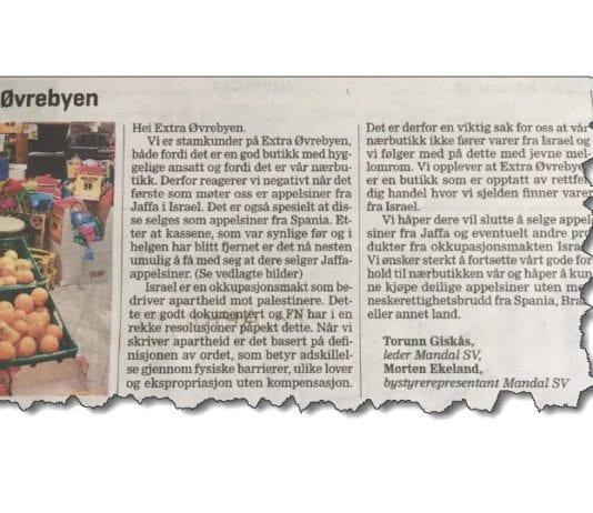 Faksmile fra avisen Lindesnes.