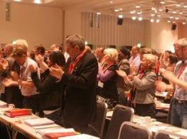 Kommer LO-Kongressen til å klappe gjennom boikott av verdens eneste jødiske stat? Bildet er fra LO-Kongressen i 2009. (Illustrasjonsfoto: Arbeiderpartiet)