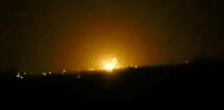 Israelske jagerfly skal angivelig ha bombet et våpenlager utenfor Damaskus. (Foto: Skjermdump YouTube)