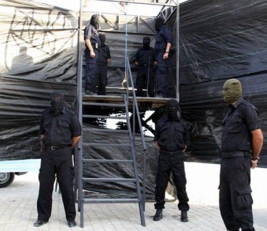 Tre personer ble henrettet ved henging i Gaza. Dette bildet er fra en annen henrettelse. (Foto: Gaza Interior Ministry)