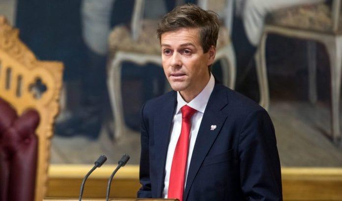 Knut Arild Hareide (KrF) under finansdebatten 5. desember 2016. (Foto: Stortinget)