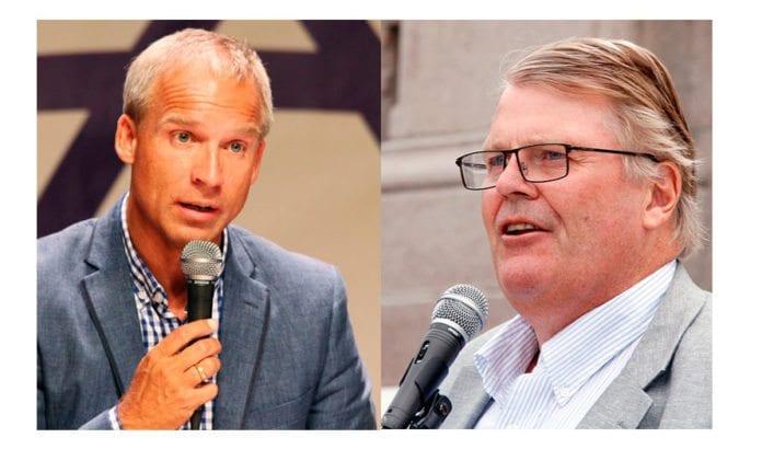 Hans Olav Syversen og Hans Fredrik Grøvan (KrF).