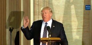 USAs president Donald Trump. (Skjermdump fra Det hvite hus)