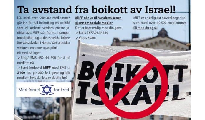 Hjelp MIFF å motarbeide boikott av Israel!