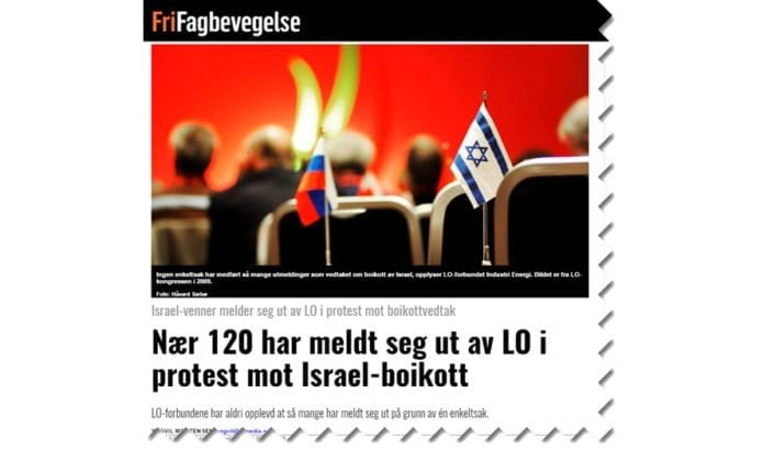 Skjermdump fra FriFagbevegelse 22. mai 2017.