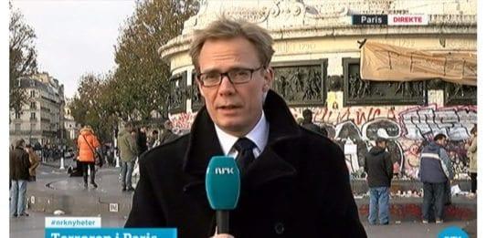 NRK-korrespondent Espen Aas. (Skjermdump fra NRK)