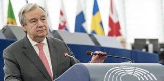FNs generalsekretær Antonio Guterres sier FN blir utnyttet av Hamas. (Foto: European Union 2017 - European Parliament)