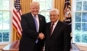 Donald Trump og Mahmoud Abbas i Det hvite hus 3. mai 2017. (Foto: Facebook)