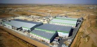 Den nye fabrikken til SodaStream ligger i industriområdet Idan Hanegev i Negev-ørkenen. (Foto: Oron Group)