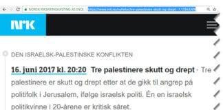 NRKs nyhetsnotis publisert 16. juni 2017.