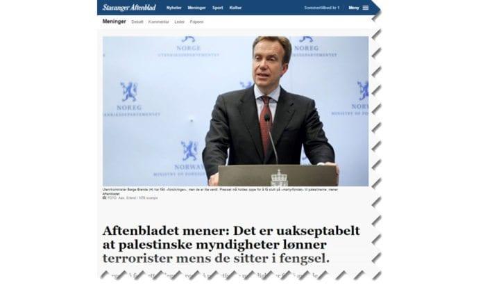 Skjermdump fra aftenbladet.no 20. juni 2017.