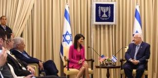 USAs FN ambassadør Nikki Haley møtte Israels president Reuven Rivlin. (Foto: US Embassy)