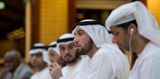 Generalsekretær i Røde Halvmåne i De forente arabiske emirater, Mohammed Ateeq Al-Falahi, langer ut mot Hamas. (Foto: AE Government)