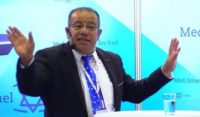 Bassem Eid på MIFFs Israelkonferanse i juni 2017. (Foto: MIFF)
