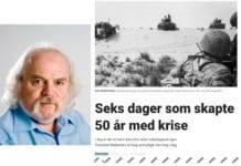 Skjermdump av Jan-Erik Smildens (innfelt) artikkel på Dagbladet.no.