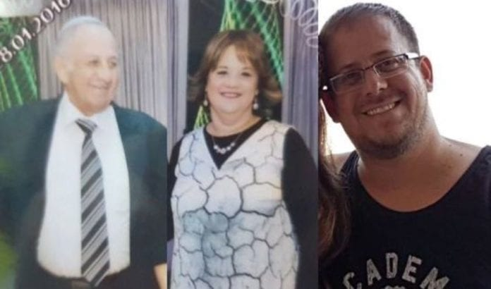 Yosef Salomon, Chaya Salomon og Elad Salomon ble drept i terrorangrepet. (Foto: Privat)