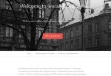 Skjermdump av den nye nettsiden Jewish City Tours