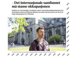Skjermdump fra Adresseavisen søndag 30. juli 2017.